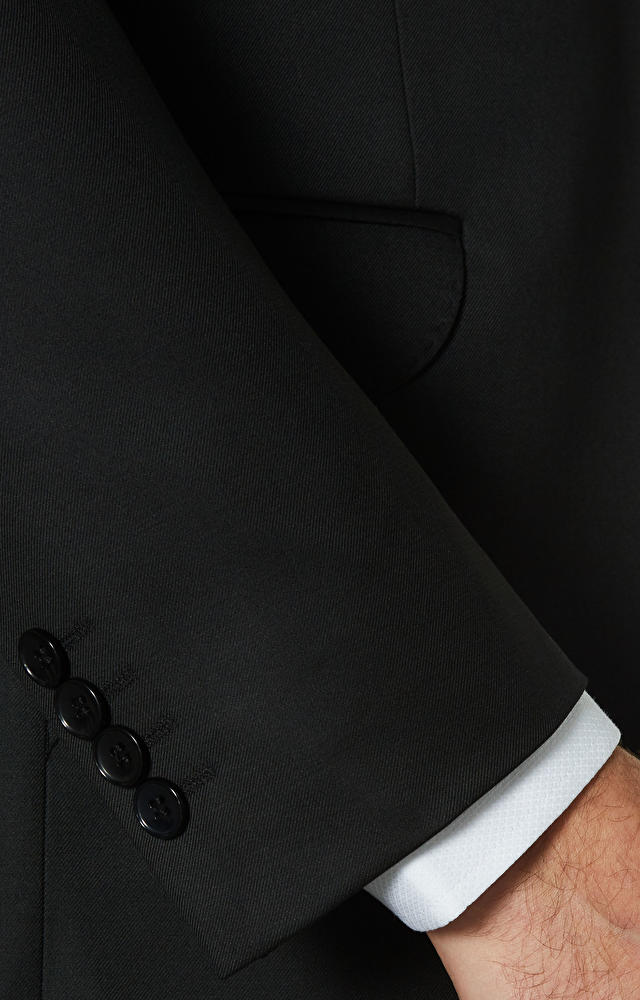 Klasyczny garnitur o diagonalnym splocie