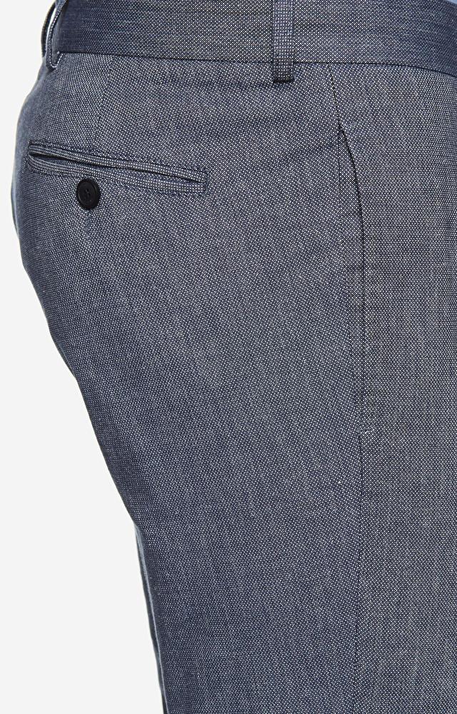 Klasyczne wełniane spodnie od garnituru z dodatkiem lnu
