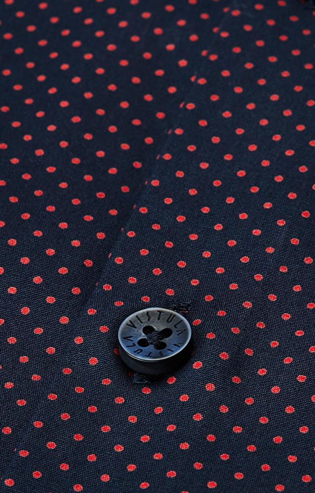 Dopasowana koszula z merceryzowanej bawełny, kołnierz kryte button-down