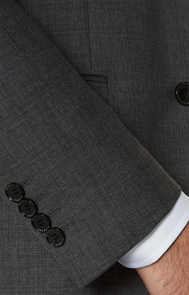 Dopasowany garnitur wełniany w mikrowzór