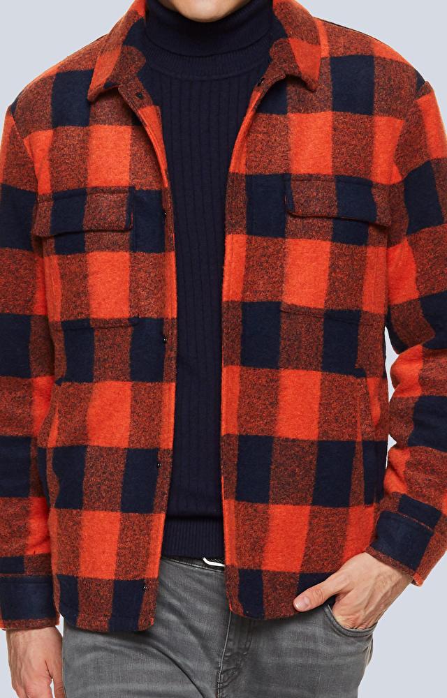 Kurtka koszulowa w kratę