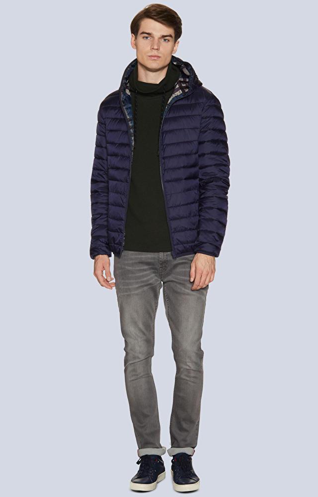 Dwustronna, pikowana kurtka