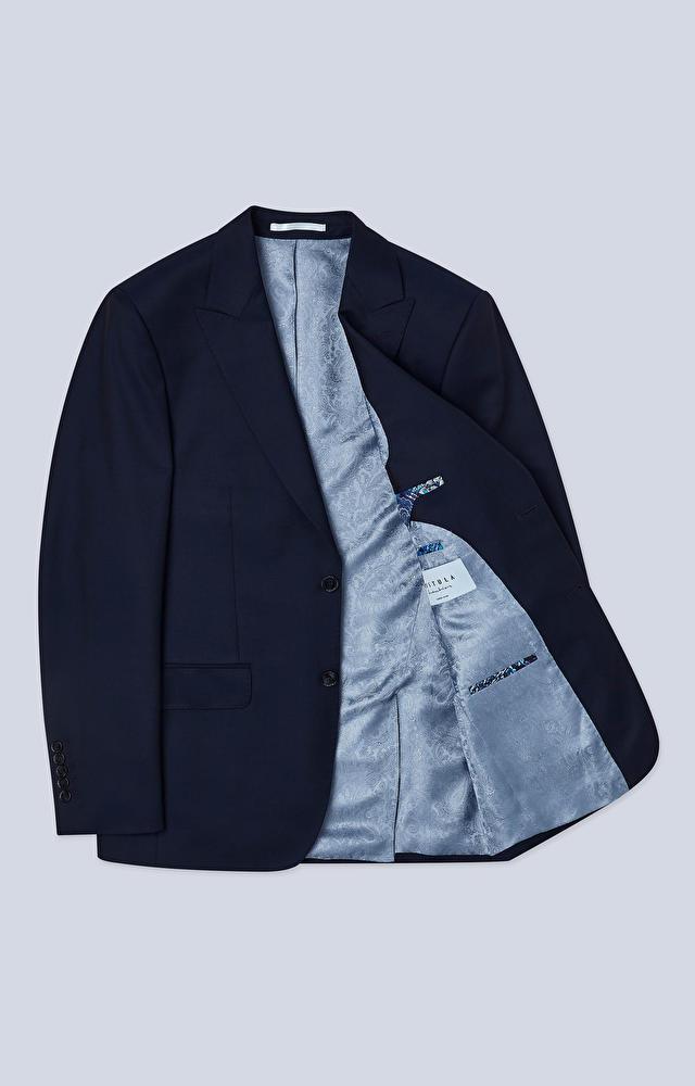 Dopasowany garnitur z dodatkiem moheru