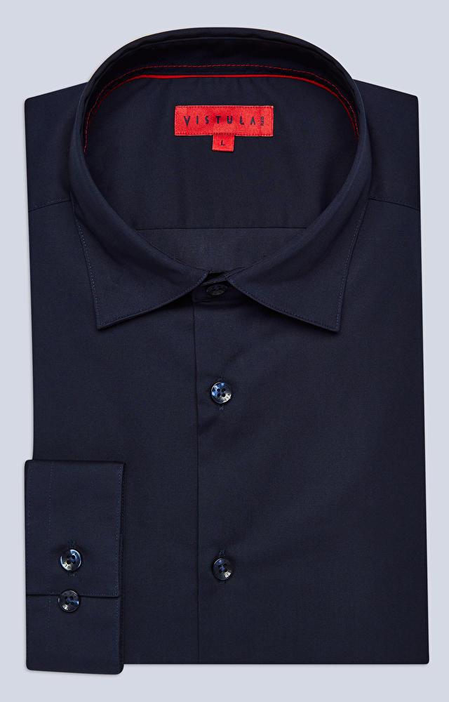 Dopasowana koszula z dodatkiem elastanu, kołnierz kryte button-down