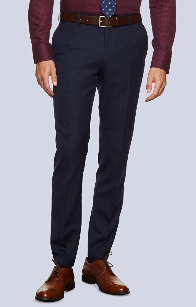 Klasyczne wełniane spodnie od garnituru