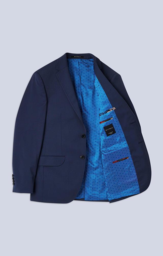 Klasyczny garnitur z tkaniny o diagonalnym splocie