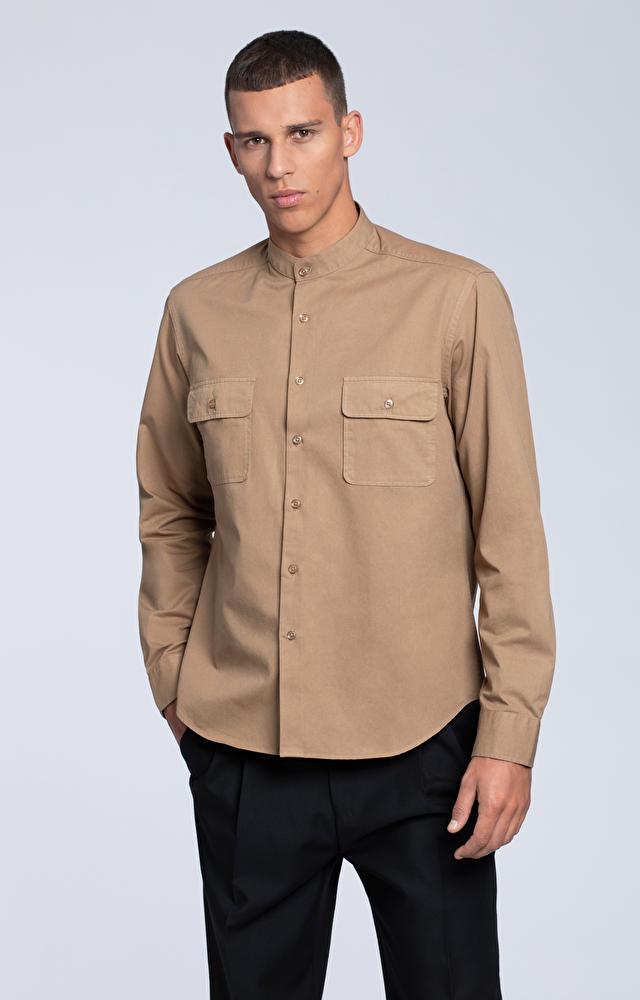 Luźna koszula z bawełnianego twillu