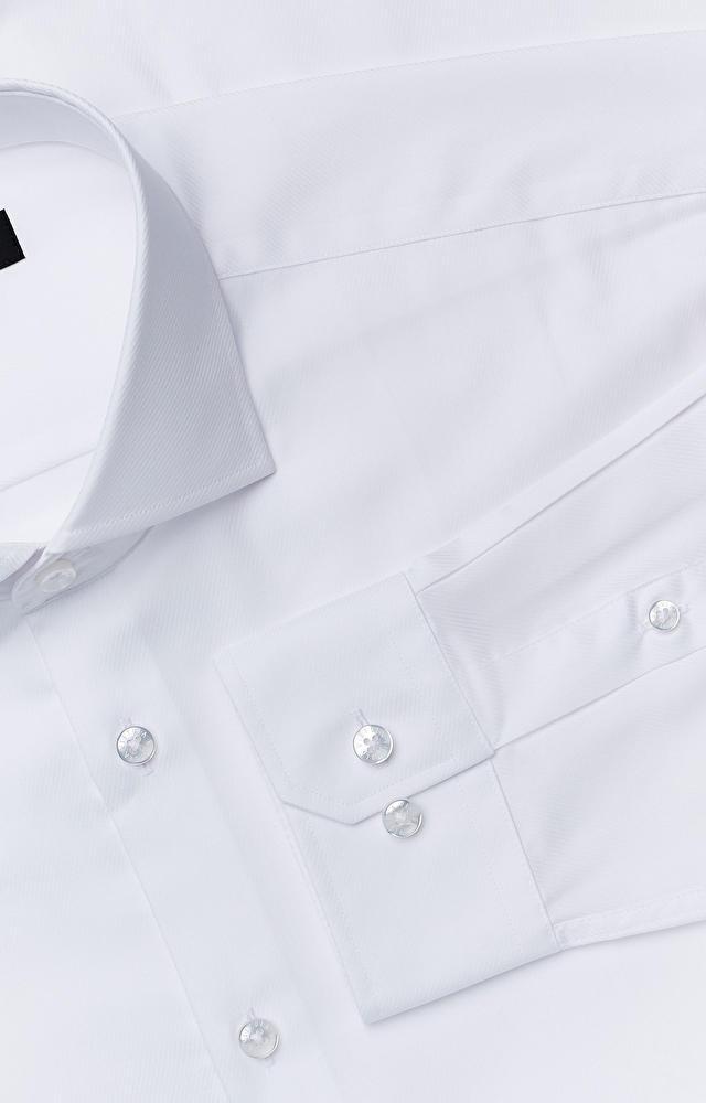 Luźna koszula w prążki z włoskim kołnierzem