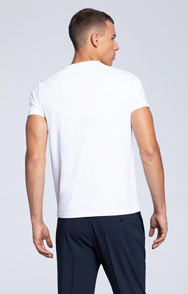 T-shirt z motywem graficznym na piersi