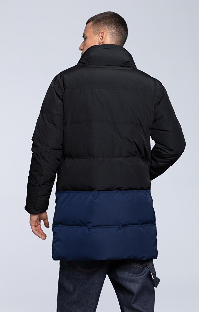 Dłuższa, pikowana kurtka z tkaniny technicznej