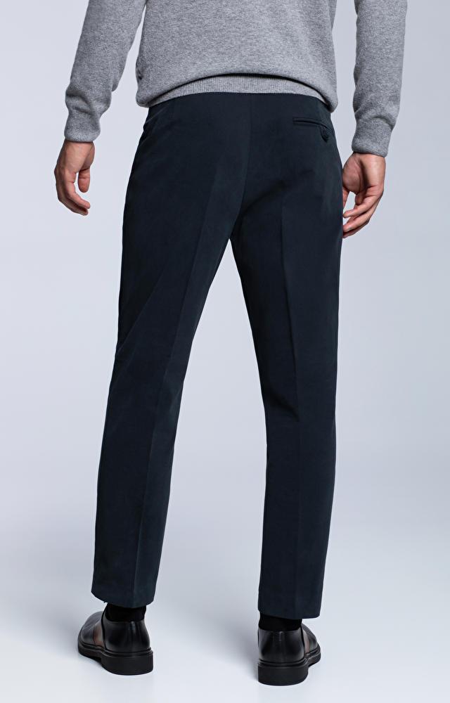 Spodnie z miękkiej tkaniny o poprzecznym splocie
