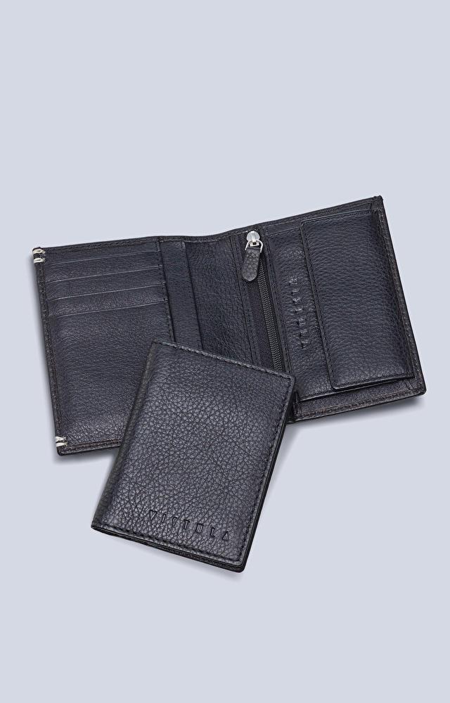 Dwuelementowy, skórzany portfel