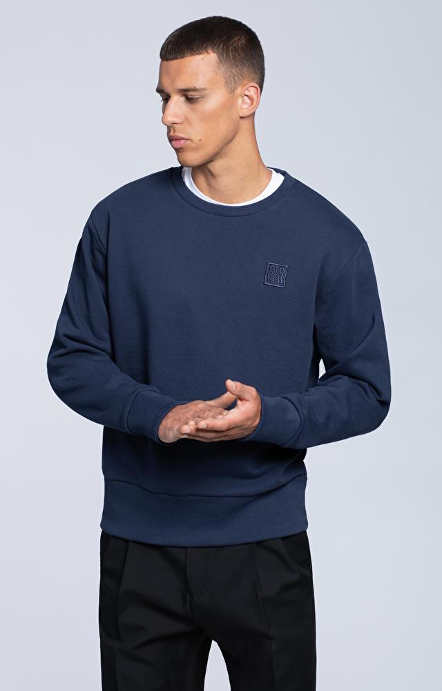 Bluza crewneck z haftem