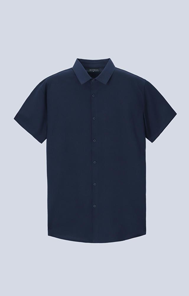 Dzianinowa koszula z krótkim rękawem