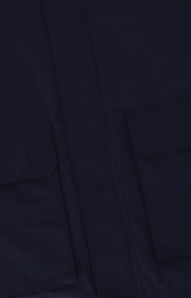 Kurtka z kapturem, z nakładanymi kieszeniami