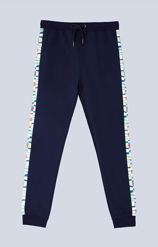 Spodnie dresowe z kolorowym lampasem