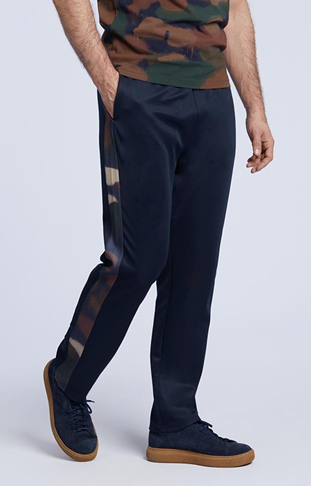Spodnie dresowe z lampasami moro