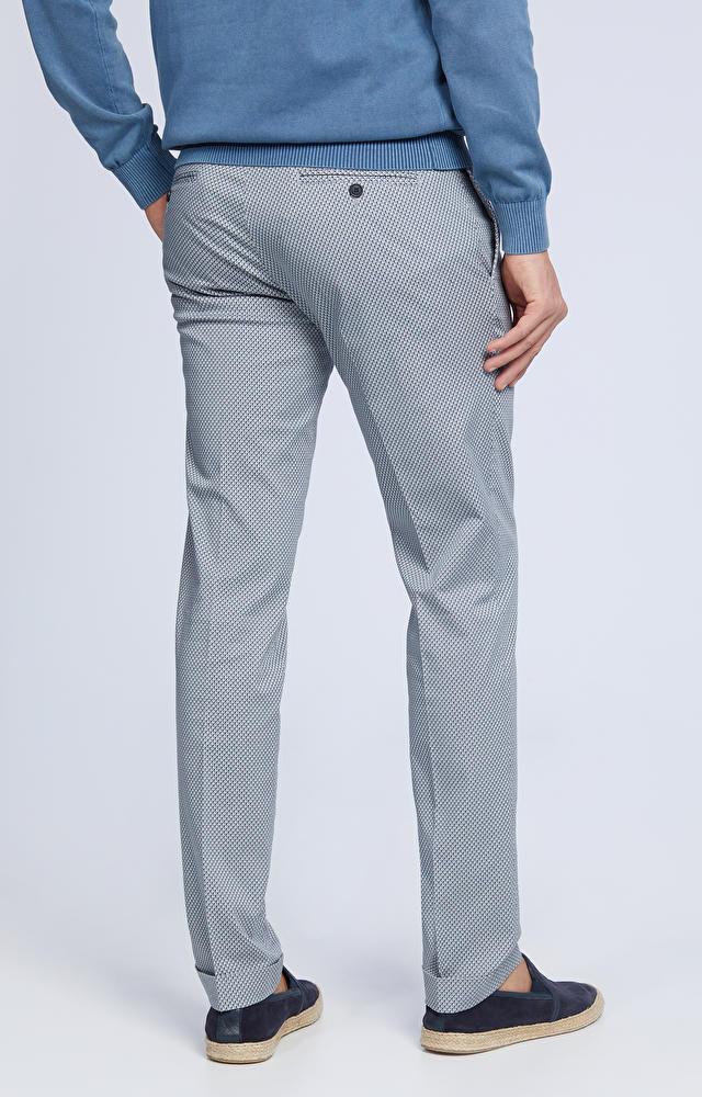 Luźne spodnie w mikrowzór