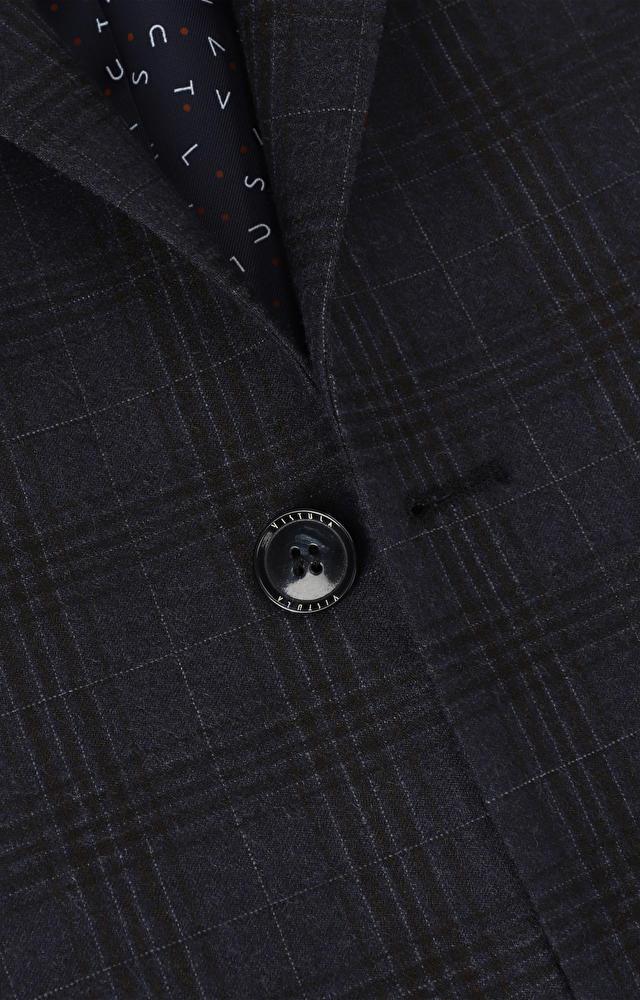 Dopasowany garnitur 3-częściowy w kratę