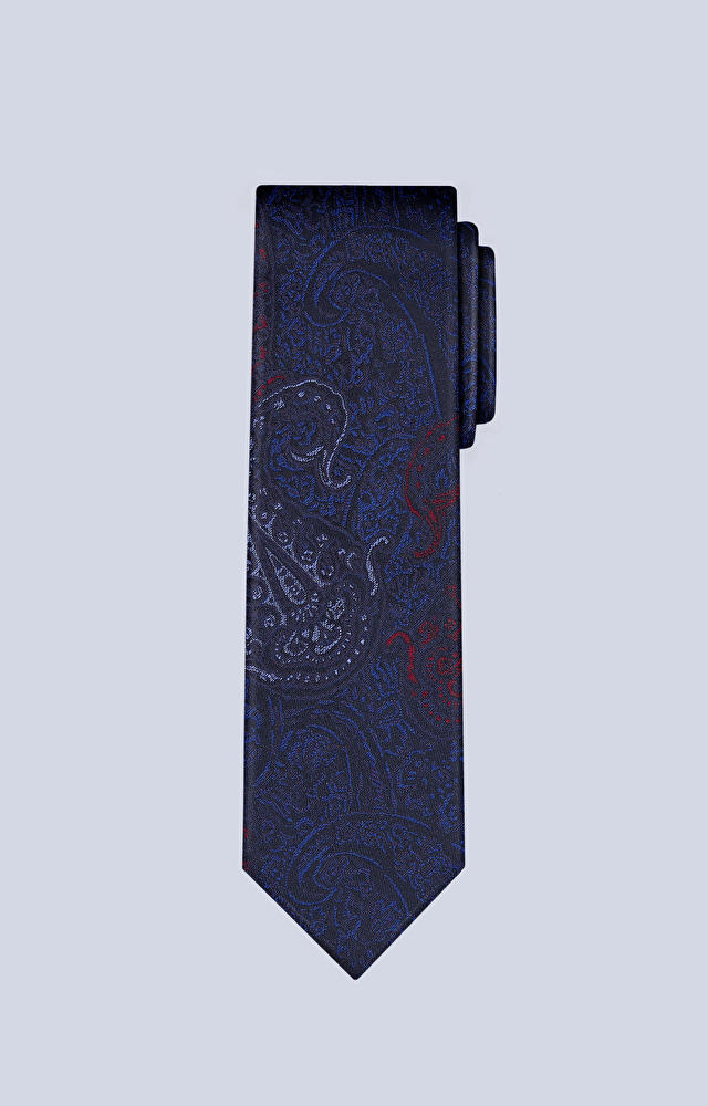 Jedwabny krawat ze wzorem paisley