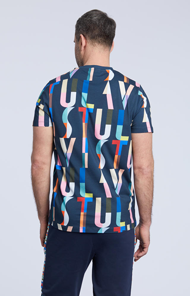 T-shirt z kolorowym nadrukiem