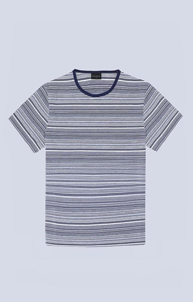 T-shirt w poziome paski