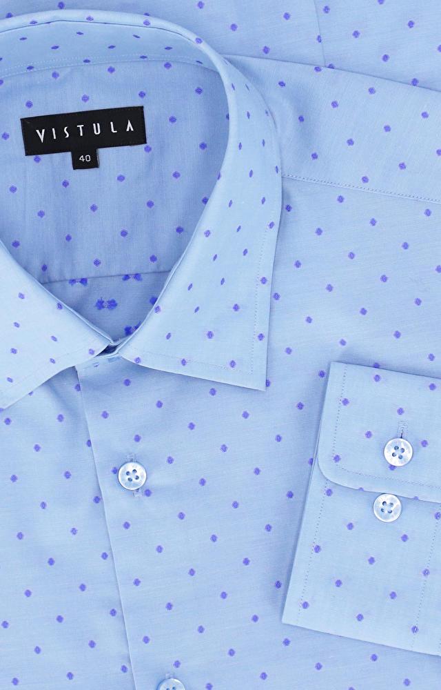 Koszula w kropki z kołnierzem button down