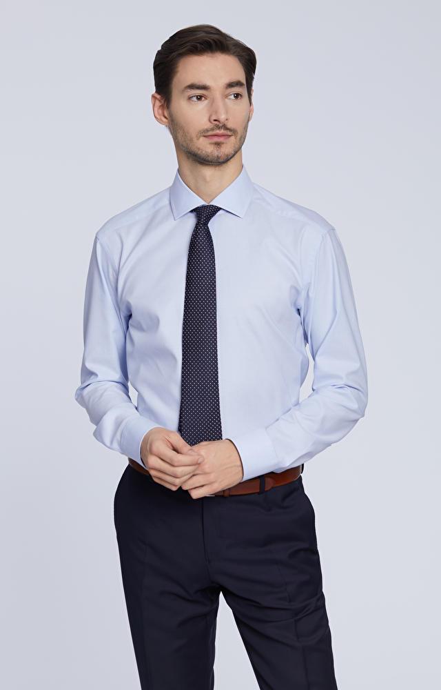 Elegancka koszula, włoski kołnierz