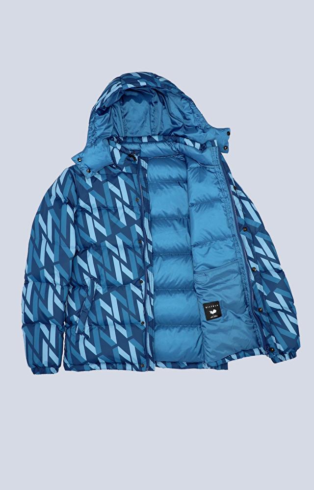 Puchowa, pikowana kurtka z monogramem