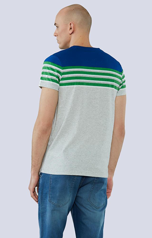 T-shirt z nadrukiem w paski