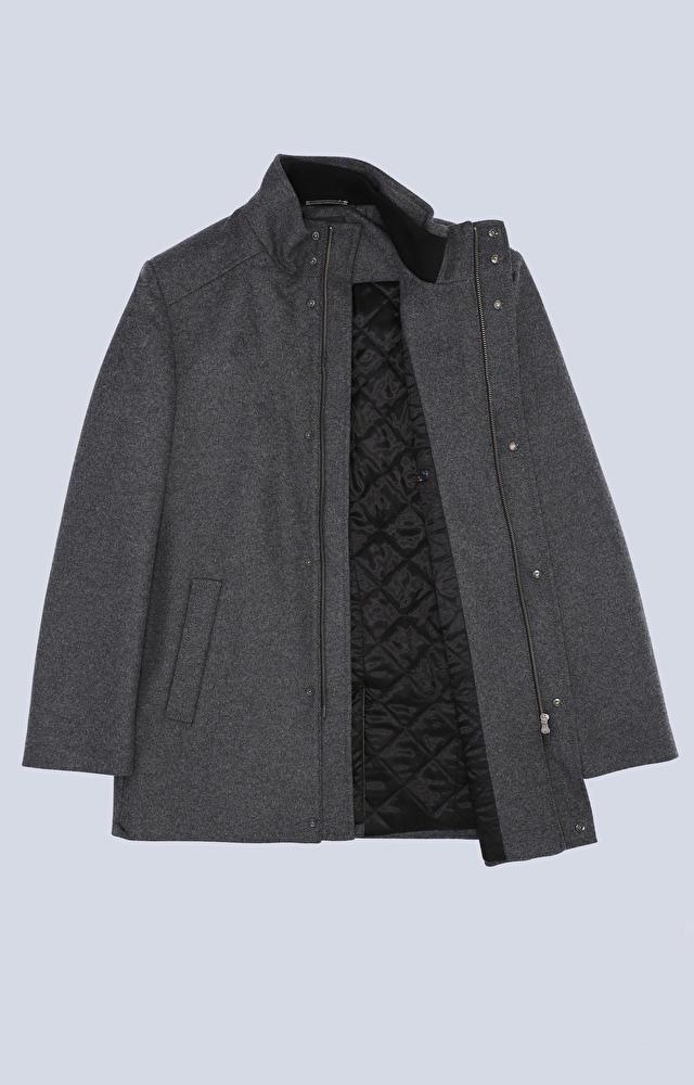 Wełniana kurtka ze stójką