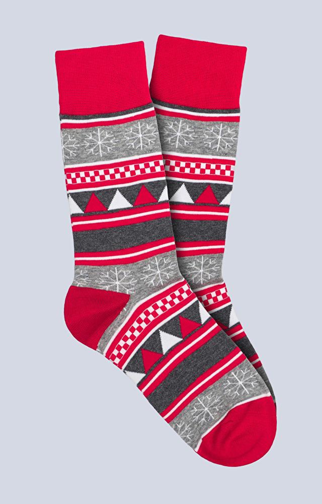 Skarpety z świątecznym motywem