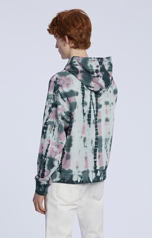 Bluza z kapturem, farbowana ręcznie