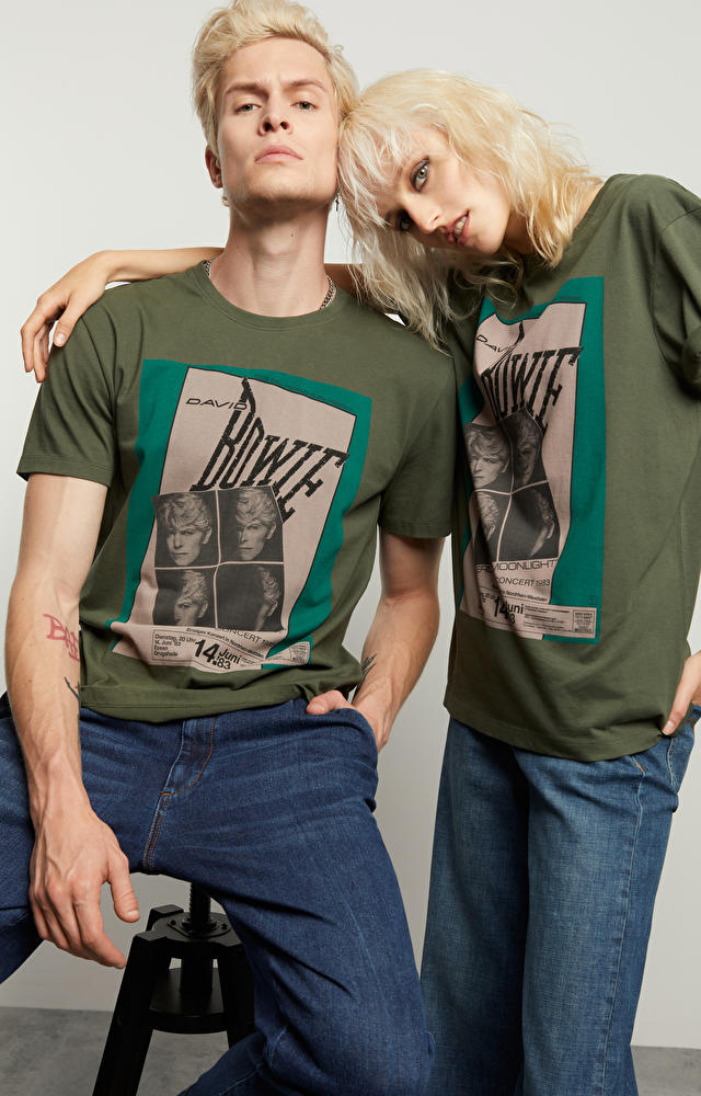 T-shirt z nadrukiem David Bowie