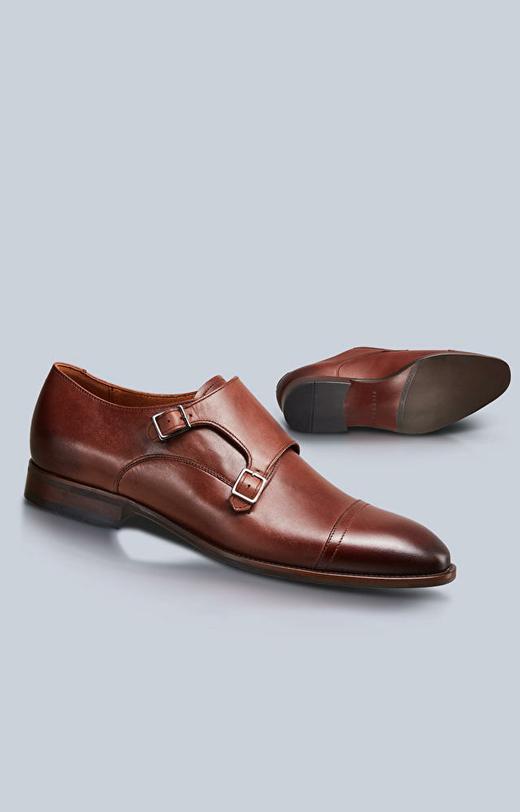 Skórzane buty typu monki
