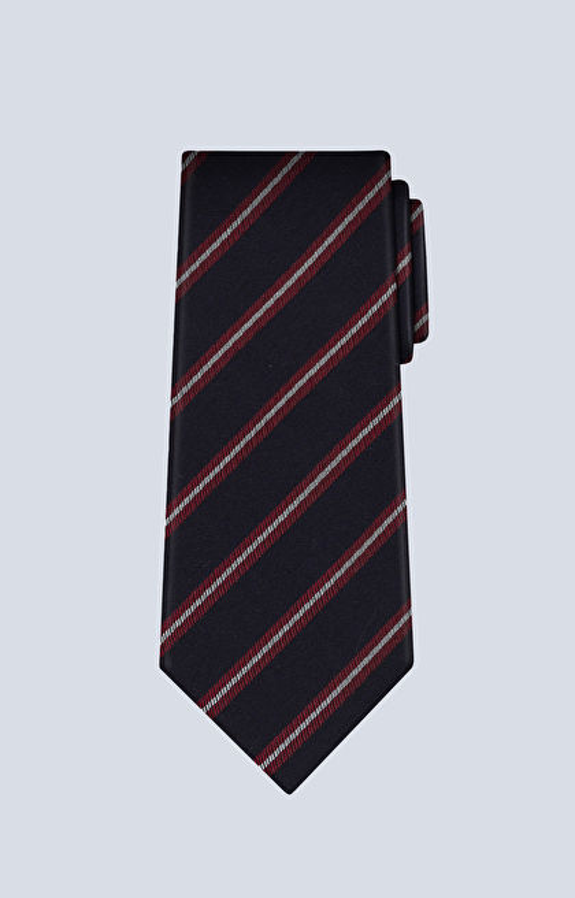 Jedwabny krawat z dodatkiem wełny