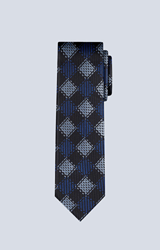 Jedwabny krawat w kratę