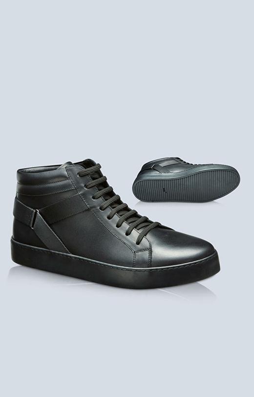 Skórzane buty na grubej podeszwie