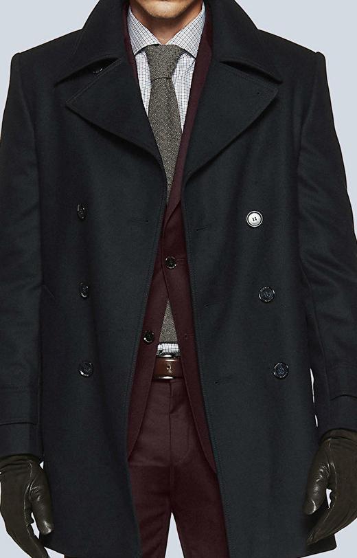 Dwurzędowa, krótka kurtka