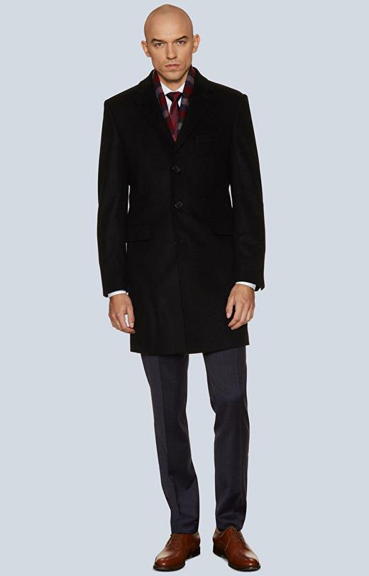 Płaszcz z tkaniny wełnianej z dodatkiem kaszmiru