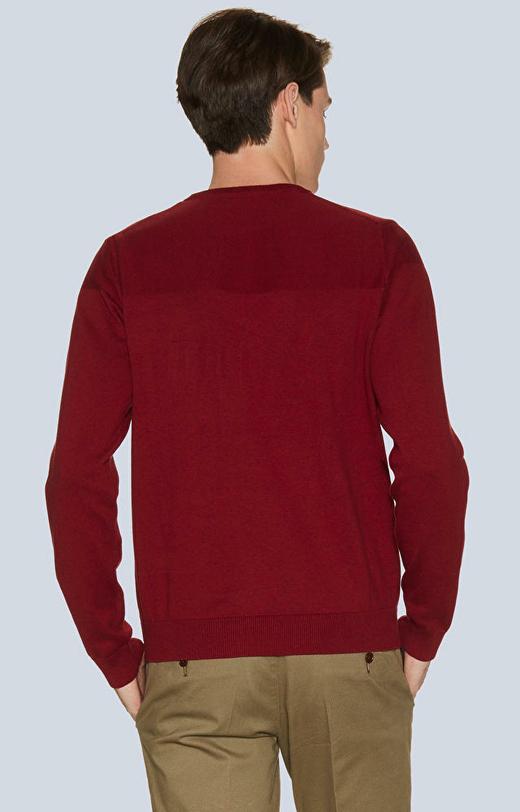 Lekki, bawełniany sweter round-neck