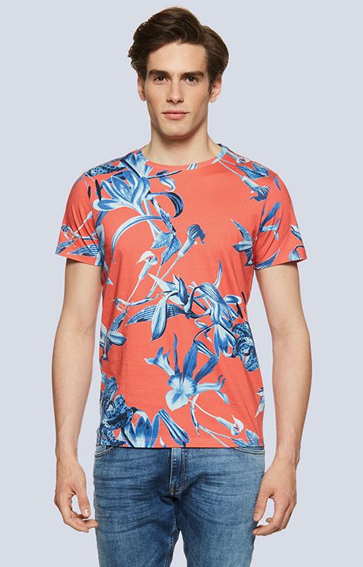 T-shirt z nadrukiem w kwiaty