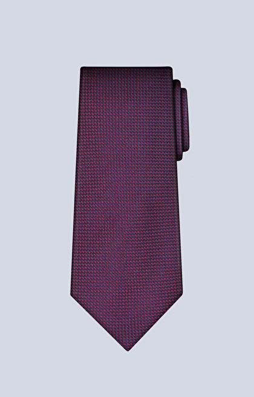 Jedwabny krawat w mikrowzór