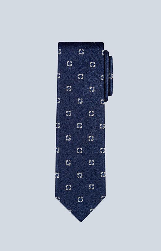 Wełniany krawat z wzorem