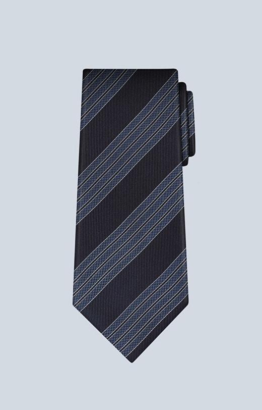 Jedwabny krawat w paski