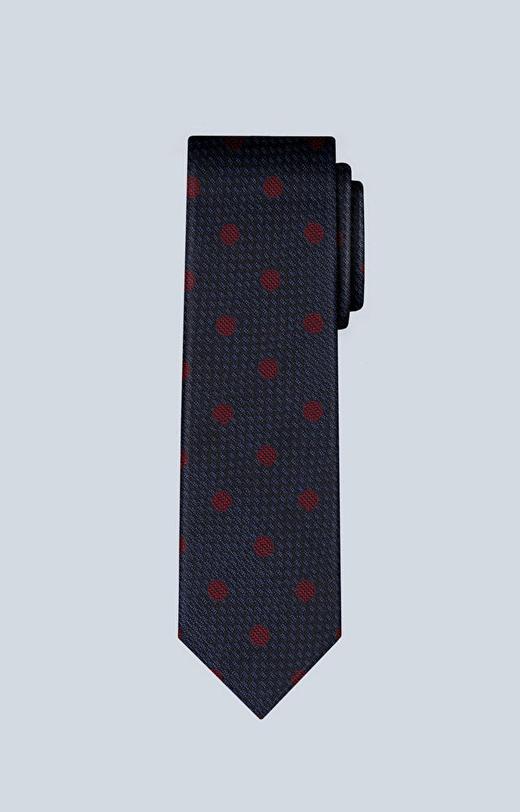Jedwabny krawat w kropki