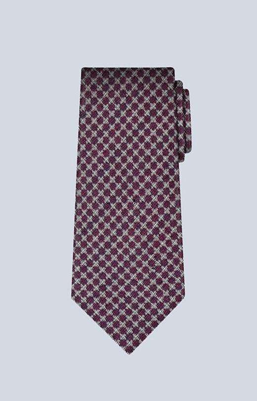 Wełniany krawat z dodatkiem jedwabiu