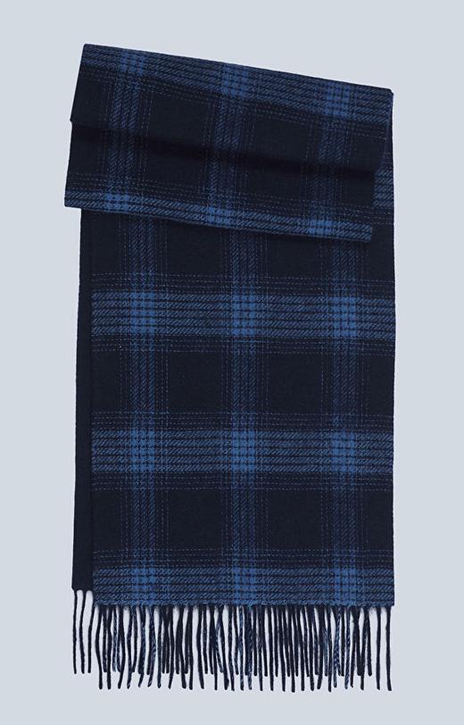Dwustronny szal z tkaniny wełnianej