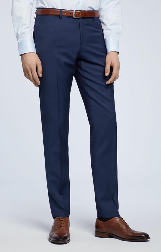 Dopasowane spodnie z wykończeniem natural stretch