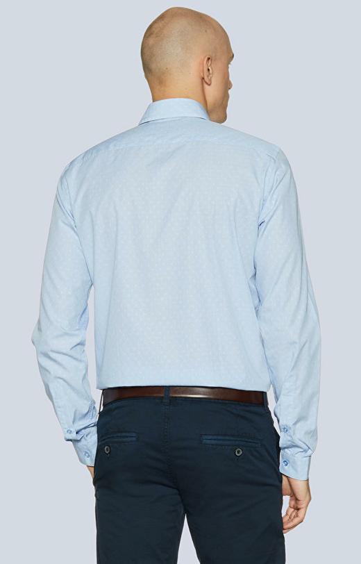 Dopasowana koszula, kołnierz kryte button-down